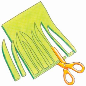 Cut out individual blades of grass.