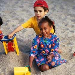 Preschoolers should spend time around other children to develop their social skills.