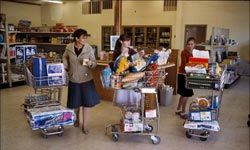 Plan to do your shopping with one weekly trip -- even if you have use extra shopping carts.