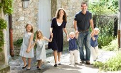 Dressing your family in matching outfits makes it easier to keep track of them in a crowd.