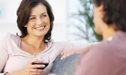 Having a glass of wine with your spouse after a long day will help the two of you to stay connected.