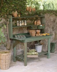 Potting benches don't have to be fancy.