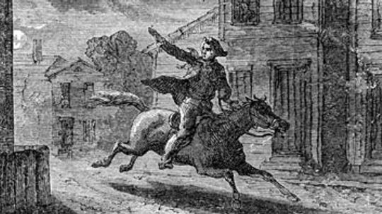 What happened to the two other men on Paul Revere's ride?