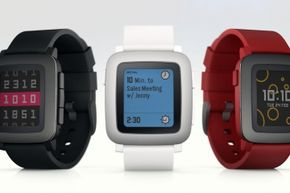 The color display on the Pebble Time isn't a touchscreen, but the watch has a longer battery life than most competitors as a result.