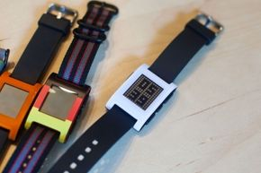 One of the selling points of the Pebble is its compatibility with any standard watchband.