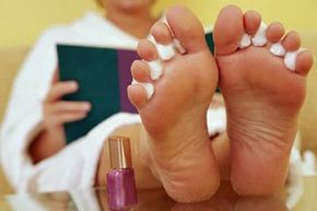 Put you feet up, open a book, relax and let them dry. See more pictures of personal hygiene practices.