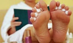 When getting a pedicure, avoid metallic instruments.