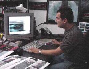 Habib Zargarpour at his workstation