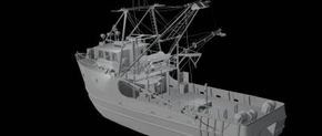 A shaded version of the Andrea Gail