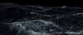 The simulated ocean. Note that the boat's movement in this ocean must be completely matched to the wave motion to be realistic.