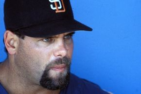 Ken Caminiti, shown in file photo from a 1998 game with the San Diego Padres, died of a heart attack in 2004 at age 41. Caminiti, the 1996 National MVP, admitted he used steroids during his career that ended in 2001.
