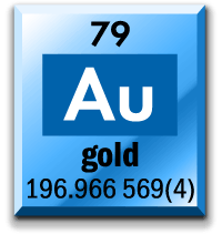 If you looked up gold on the periodic table, this is the information you'd likely find.