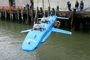 The predecessor to the Super Falcon, the Super Aviator, prepares for takeoff.