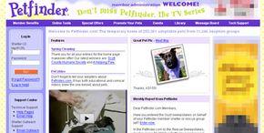 The Petfinder member page