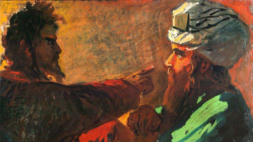 Christ confronts Nicodemus