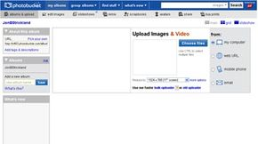 The Javascript-based user interface makes it easy to upload images and video to account pages.