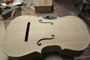 The air moving inside a cello is what gives it its sound.