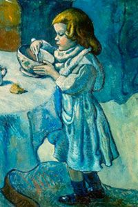 """Pablo Picasso's painting """"Le Gourmet"""" was completed in 1901."""