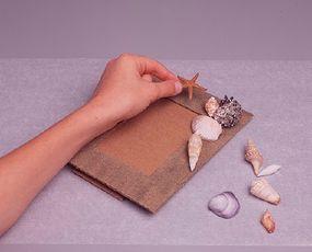Glue shells to frame. (Step 8)