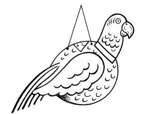 Make a parrot pinata.