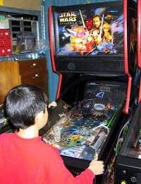 One of the few Pinball 2000 machines to go public.