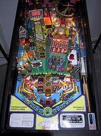 A pinball takes many twists and turns on its way to the drain.