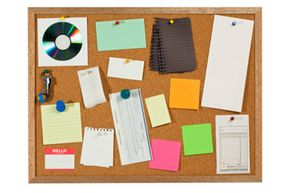 Wouldn't it be easier – and cleaner – to put all this stuff on an online bulletin board?