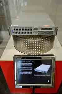 One of the Pirate Bay servers is on display at Sweden's National Museum of Science and Technology.