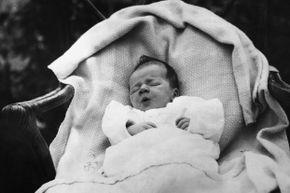 Charles Lindbergh Jr. as a wee babe of two weeks old