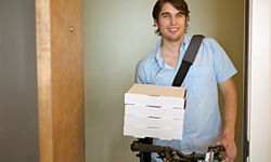 To cut costs, the delivery guy might use his bike or walk, instead.