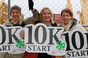 Planning a charity event like a 10k race takes months of preparation and lots of volunteers. Members of the Junior League of Atlanta hold an annual Shamrock 'n' Roll road race.