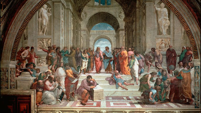"""""""The School of Athens"""" painting"""