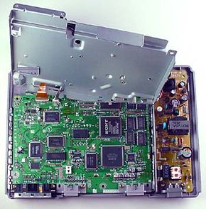 When you look inside a PlayStation, you can see the processor and memory chips.