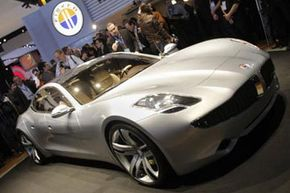 For those who like to drive green and live luxuriously, there's the Fisker Karma.