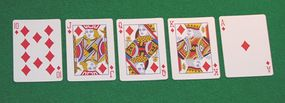 The elusive Royal Flush, the strongest hand in poker
