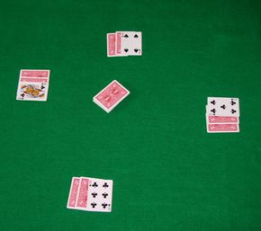 Here is a hand of seven-card stud after the initial deal, also known as third street.