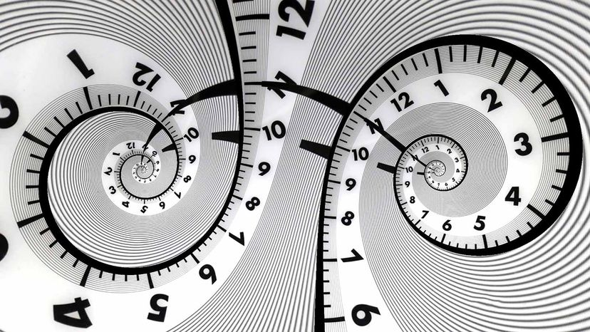 twisted clock face