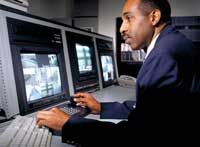 Not all police departments continuously monitor their CCTV video, but some do.