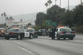 This chase included a standoff between several police officers and a motorist.