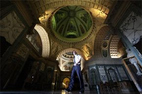 Steve Fisher, security supervisor at London's Old Bailey courthouse, walks through The Grand Hall on Dec. 15, 2010. Fisher works from 7 p.m. to 7a.m. We're hoping he gets a big chunk of satisfying sleep during the day.