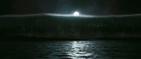 """A freak tsunami wave leads to the capsizing of a luxury cruise ship in """"Poseidon."""""""