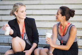 Communication is one key to feeling better at your job: Talk to you co-workers.