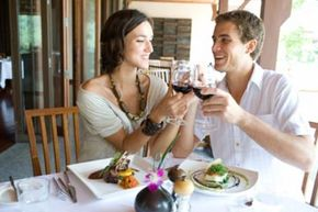During your honeymoon dinners, immediately box half your portion once the meal arrives, to save on calories.
