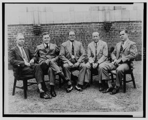 Pop Warner (center) with other All-American football coaches. See more pictures of the football greats.