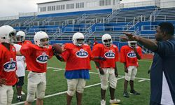 Image Gallery: Football Youth football players come in all sizes and age ranges. See more pictures of football.