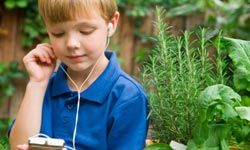 Careful about using earbuds: They can be too loud for kids' ears.