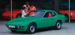 The Porsche 924, here in original European livery, begat the Porsche 944 and 968. See more pictures of classic cars.