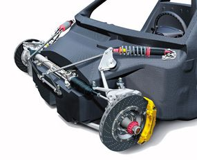 Front-wheel brakes (PCCB), steering and suspension systems