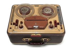 Magnetic tape recorders served as early portable recording studios.