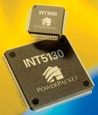 New power-line networking products are based on Intellon's PowerPacket technology.
